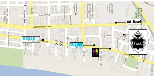 Map of the fairs in Miami Beach